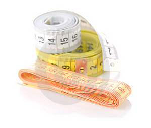 Measuring Tapes Isolated Stock Photo - Image: 19619680
