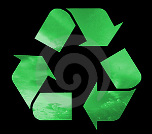 Recycle Symbol Filled Green Clouds Stock Image - Image: 19622011