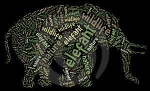 Elefant Of Words Royalty Free Stock Photos - Image: 19622018