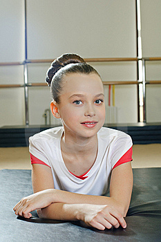 Portrait Of Gymnast Girl Royalty Free Stock Photography - Image: 19625837