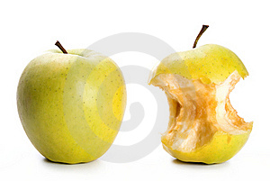 Apple And An Apple Core Royalty Free Stock Image - Image: 19631916