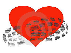 Footprint On The Heart Stock Image - Image: 19632161