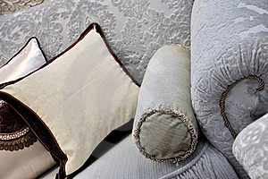 Cloth Sofa Handle And Pillow Royalty Free Stock Photos - Image: 19633728