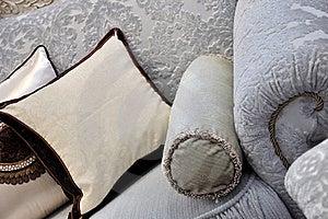 Cloth Sofa Handle And Pillow Royalty Free Stock Photos - Image: 19633728