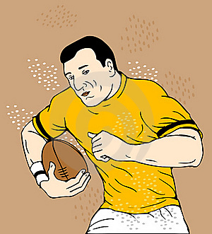 Rugby Player Running With Ball Stock Photos - Image: 19634023