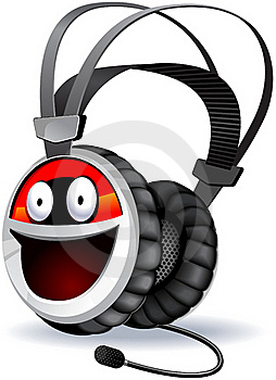 Headphones Character. Royalty Free Stock Images - Image: 19639739