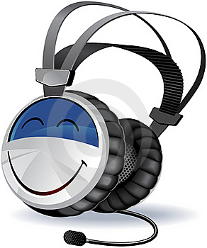 Headphones Character Royalty Free Stock Image - Image: 19639746