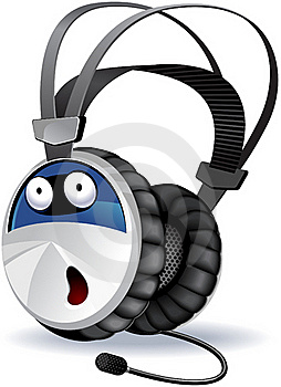 Headphones Character Stock Photo - Image: 19639750