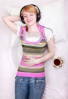 Beautiful Girl Lying Down On Stock Images - Image: 19643274