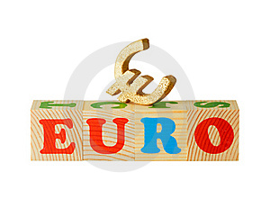 Euro Wooden Blocks Stock Photo - Image: 19643510