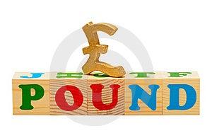 Pound Wooden Blocks Stock Images - Image: 19643514