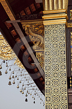 Hor Kam Luang Pillar Art Stock Photo - Image: 19643550