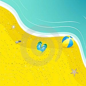 Flipflops On The Sand Stock Image - Image: 19644471