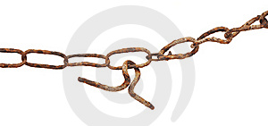 Very Old Rusty Chain Stock Photo - Image: 19645920