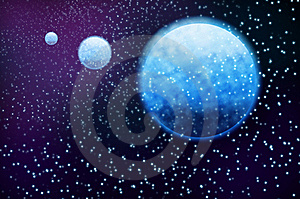 Blue 3 Planet Royalty Free Stock Image - Image: 19647466