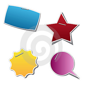 Vector Sticker Royalty Free Stock Images - Image: 19649319