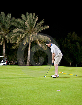 Night Golf Royalty Free Stock Photos - Image: 19651908