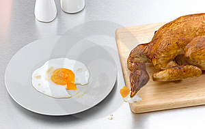 Chicken Toasted Isolated  Royalty Free Stock Photography - Image: 19653597