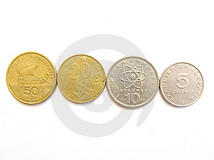 Greek Drachma Coins Royalty Free Stock Images - Image: 19657429