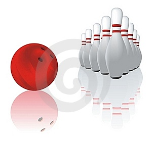 Bowling And Reflection Royalty Free Stock Image - Image: 19658546