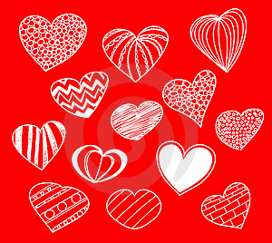 Hearts Collection Royalty Free Stock Image - Image: 19659956