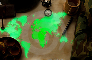 World Map Glow Stock Photography - Image: 19661802