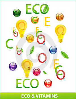 Eco And Medic Vitamins Set Stock Images - Image: 19662084