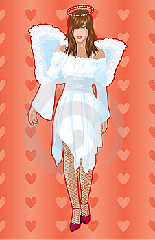 Girl With Angel Wings. Stock Photos - Image: 19662203