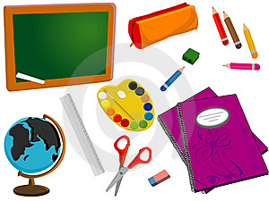 School Or Office Supplies Royalty Free Stock Photos - Image: 19662738