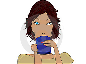 Girl With A Cup Royalty Free Stock Images - Image: 19662739