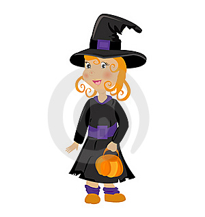 Girl In Halloween Costume Royalty Free Stock Photography - Image: 19662747
