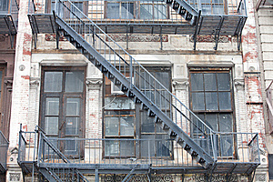 Old Fire Staircase Royalty Free Stock Photography - Image: 19663397