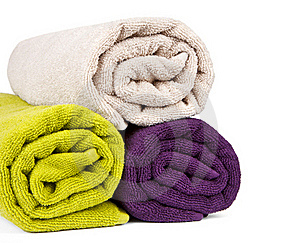 Rolled Up Colorful Towels Royalty Free Stock Images - Image: 19663419