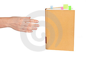 Hand Goes To The Book Stock Photos - Image: 19663743