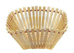Empty Basket Isolated On White Background Stock Images - Image: 19664754
