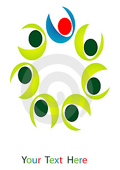 Logo Team  Of People Royalty Free Stock Photography - Image: 19667297