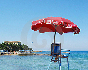 Life Guard Umbrella Stock Images - Image: 19668844