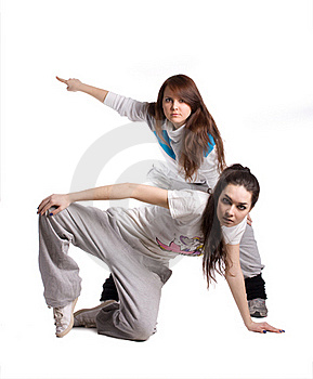 The Two Hip-hop Dancer Stock Image - Image: 19670301