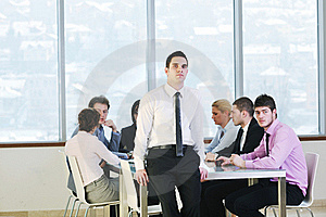 Group Of Business People At Meeting Royalty Free Stock Photos - Image: 19671328