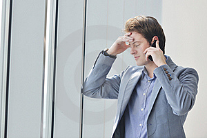 Young Business Man Talk By Cellphone Stock Photography - Image: 19671832