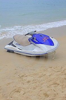 Moto Boat On Sand Stock Image - Image: 19672701
