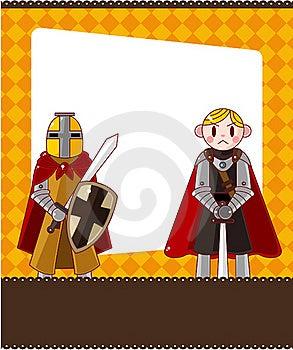 Cartoon Knight Card Stock Image - Image: 19673161