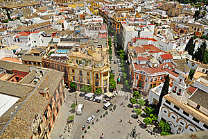 The Streets Of Seville Royalty Free Stock Images - Image: 19673489
