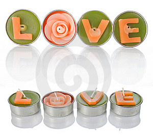 Love Candles Royalty Free Stock Photos - Image: 19674978