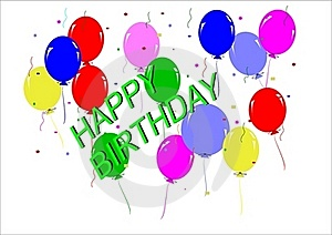Happy Birthday Greeting Royalty Free Stock Photography - Image: 19675947