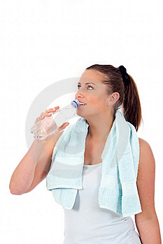 Young Woman Drinking Water Stock Image - Image: 19676691