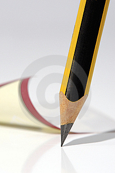 Pencil And Note Royalty Free Stock Photos - Image: 19676958