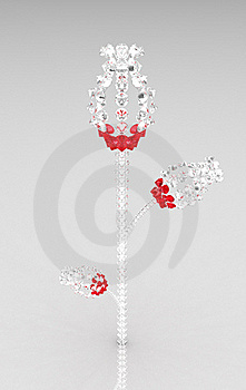 Surreal Round Diamond Crystal Flower Royalty Free Stock Images - Image: 19679249
