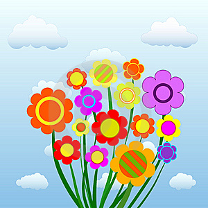Flowers In The Sky Stock Image - Image: 19679551