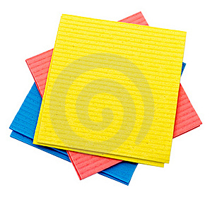 Color Rags For Cleaning Royalty Free Stock Photos - Image: 19680138